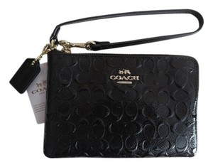 Coach Patent Leather Wristlet in Black