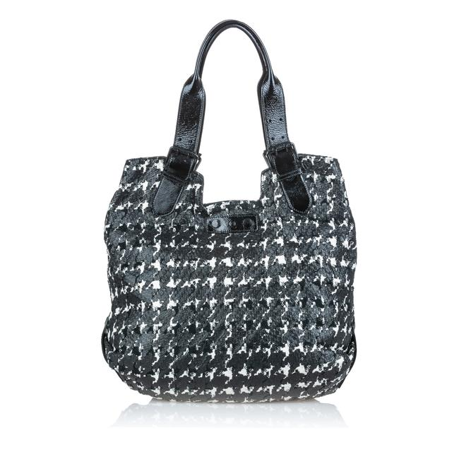Alexander McQueen Bag Houndstooth Leather Tote Alexander McQueen Bag Houndstooth Leather Tote Image 1