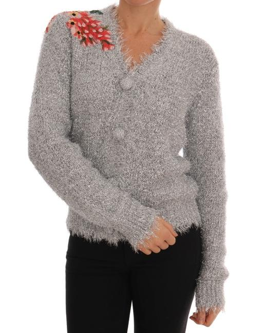 Item - Silver Floral Fairy Tale Cardigan Sweater/Pullover
