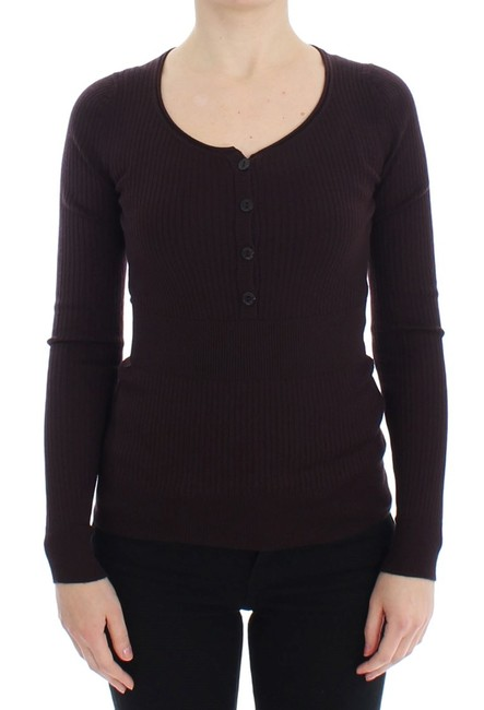 Item - Purple Cashmere Henley Sweater/Pullover
