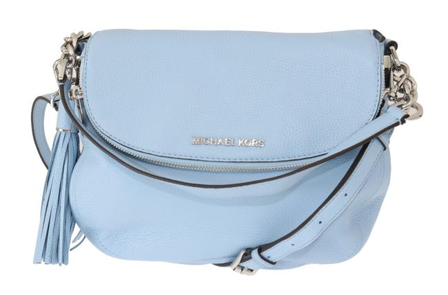 Item - Bedford Blue Pebbled Leather One Size Shoulder Bag