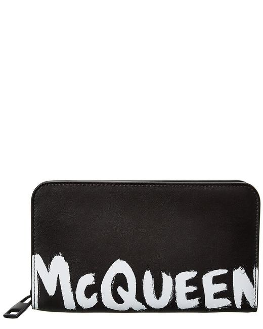 Item - Graffiti Log Leather Zip Around 602136 1nt0b 1070 Wallet