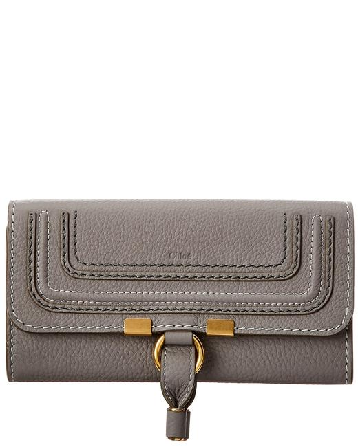 Chloé Marcie Long Leather Flap Wallet Chc10up573 161 053 Accessory Chloé Marcie Long Leather Flap Wallet Chc10up573 161 053 Accessory Image 1