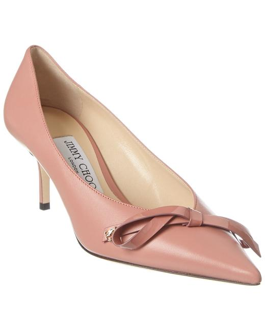 Jimmy Choo Leather Scarlette 65 Abo Blush Pumps 13135743810004 Image 1