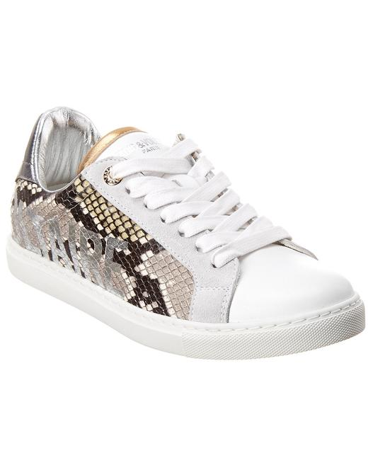 Item - Wild Snake- Embossed Leather Sneaker Whao1702f Athletic