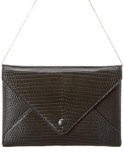 Item - Wallet on Chain Envelope Lizard-embossed Leather W1217e2 Hunter Green Accessory