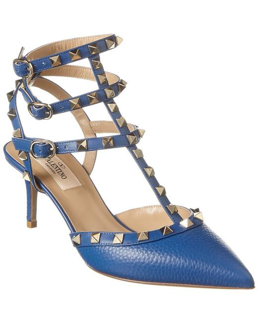 Valentino Rockstud Caged 65 Leather Ankle Strap S0375 Vce 52p Pumps Valentino Rockstud Caged 65 Leather Ankle Strap S0375 Vce 52p Pumps Image 1