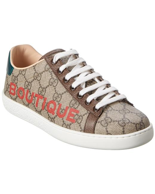 Item - Boutique Gg Supreme Canvas & Leather Sneaker 623235 2bl10 8660 Athletic