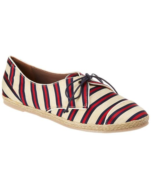 Item - Sneaker Dolly Red Navy Cricket Stripe Athletic