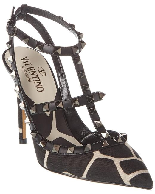 Item - Rockstud Caged 100 Canvas & Leather Ankle Strap Tw2s0393 Ars 0ac Pumps