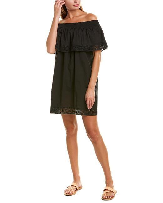 Item - Off-the-shoulder Carly Black Cover-up/Sarong