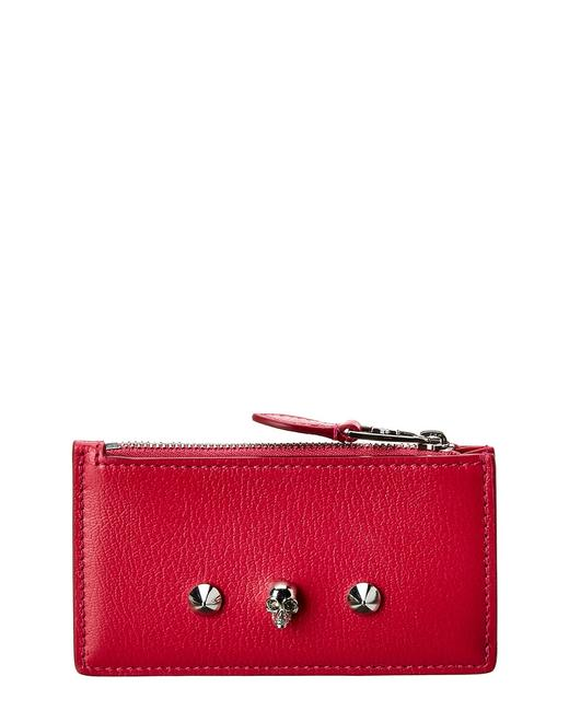 Item - Skull Leather Zipped Pouch 610205 1sm2i 5650 Wallet