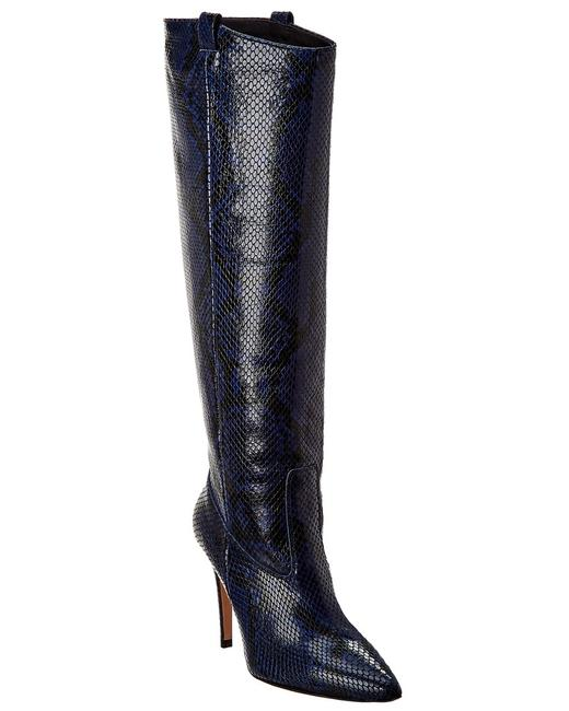 Item - Wyn Snake-embossed Leather F191105es Boots/Booties