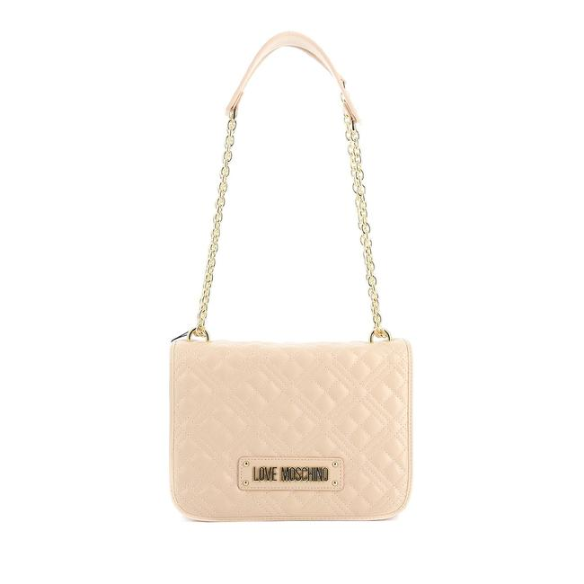 Item - Love Leather Quilted Nude Handbag Tote