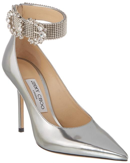 Item - Leather Lithe 100 Qul Silver/Crystal Pumps