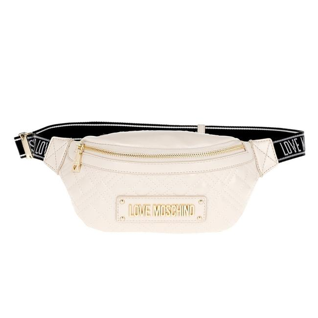 Item - Waist Bag Love Quilted Faux Leather Cream Handbag Tote