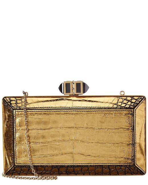 Item - E/W Coffered Rectangle Crocodile M31905 Clutch