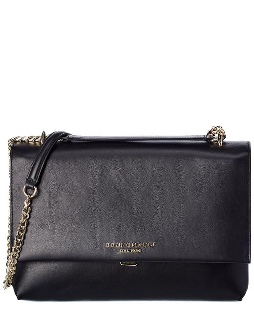 Item - Chain Leather F0307sm-smooth-black Shoulder Bag