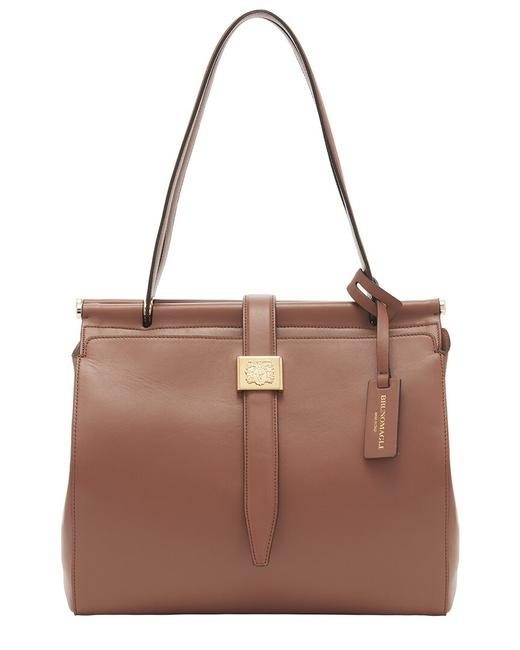Item - Double Dowel Leather F0302sm-smooth-sienna Tote