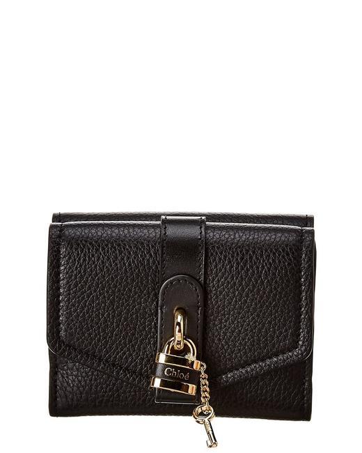 Chloé Aby Small Square Lock Leather Wallet Chc19wp311 B71 001 Accessory Chloé Aby Small Square Lock Leather Wallet Chc19wp311 B71 001 Accessory Image 1