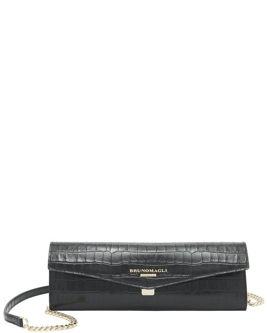 Item - Croc-embossed Leather Envelope F0305cr-embossed-black Clutch