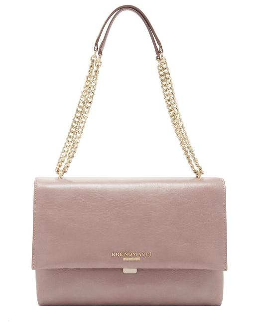 Item - Chain Leather F0307ds-distressed-nude Shoulder Bag