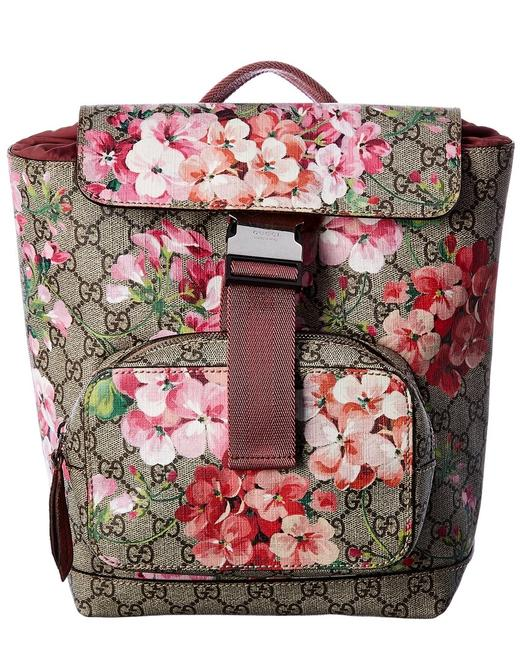 Item - Pre-owned Pink Gg Canvas Blooms Qfbjxm0lph000 Backpack