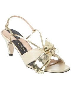 Gucci Bow Leather 575842 0cg80 9585 Sandals