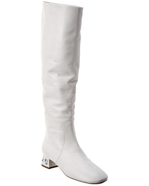 Item - Crystal Embellished Leather 5w653c 034 F0009 035 Boots/Booties
