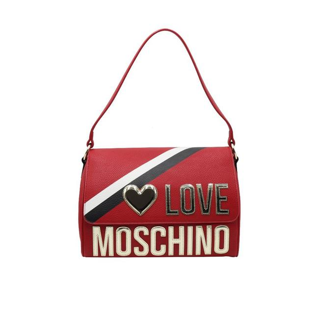 Item - Love Leather Sport Red Handbag Tote
