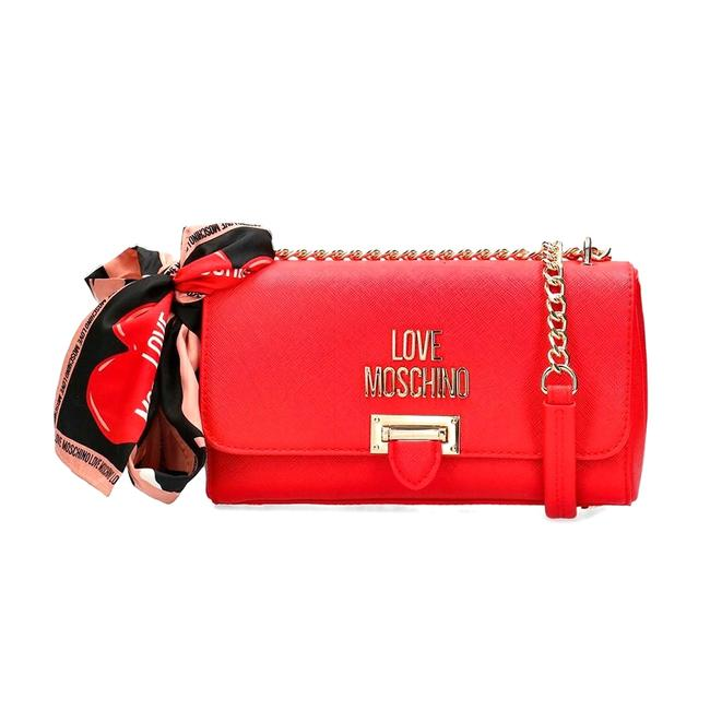 Item - Crossbody Love Plaque Red Handbag Tote