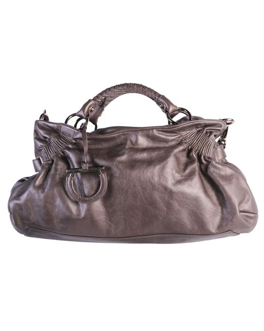 Item - Tote Metallic Grey -pre Owned Condition Very Shoulder Bag
