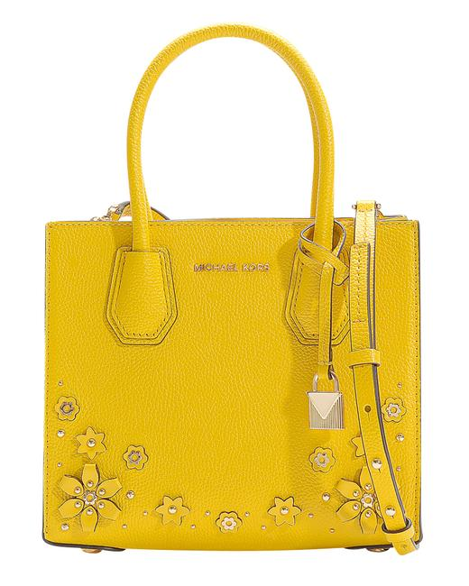 Item - Messenger Bag Mercer Medium In Sunflower Calfskin With Satchel