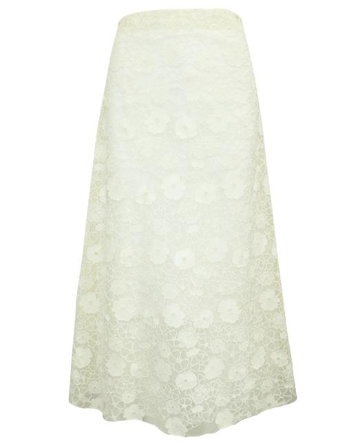 Item - Ivory Midi Lace -pre Owned Condition Very Good S Skirt