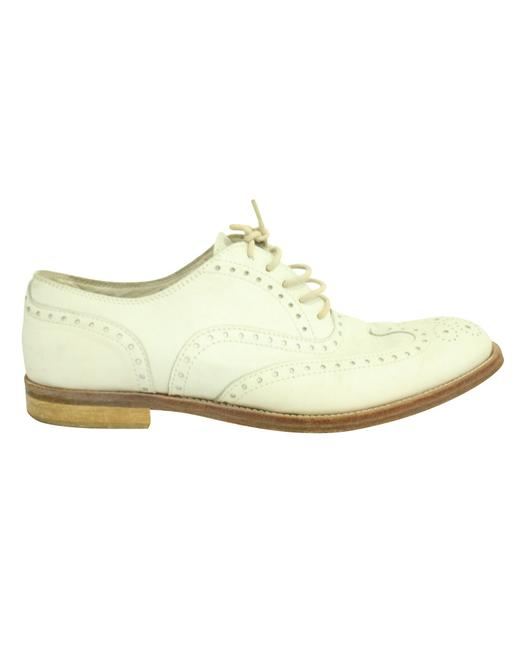 Item - White Leather Oxfords -pre Owned Condition Good 39 Boots/Booties