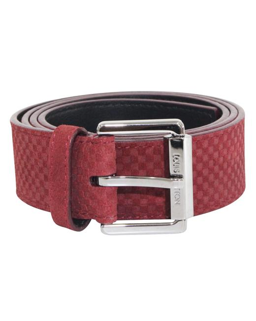 Item - Red M9540 Suede Damier -pre Owned Condition Belt