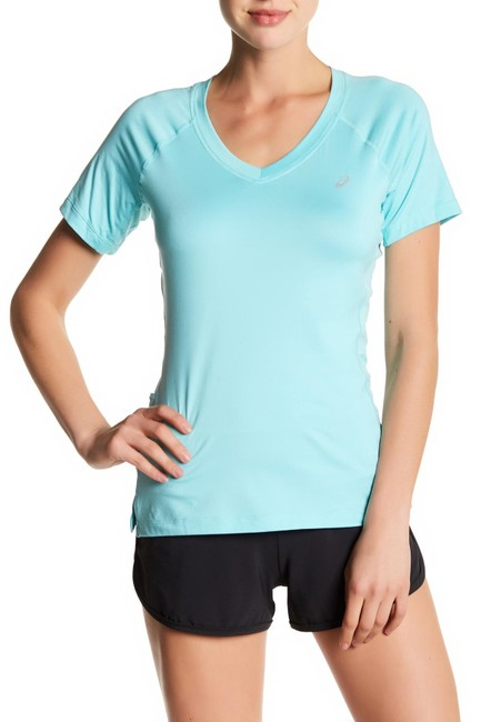 Item - New Blue Aqua Women's Size Small S Skinny V-neck Active Tee Top Blouse