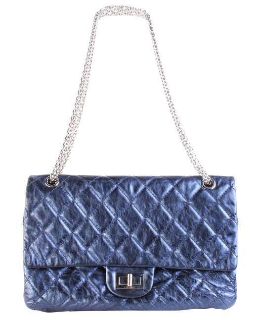Item - Classic Flap 2.55 Reissue In Metallic Navy -pre Owned Condition Very Good U Shoulder Bag