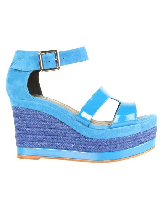 Item - Electric Blue Ilana Espadrille -pre Owned Condition Excellent Wedges