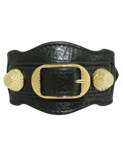 Item - Black Leather Arena Bracelet -pre Owned Condition Very Good Jewelry