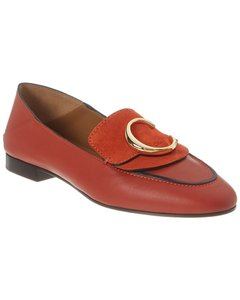 Chloé C Leather & Suede Chc19s13 391 647 Loafers