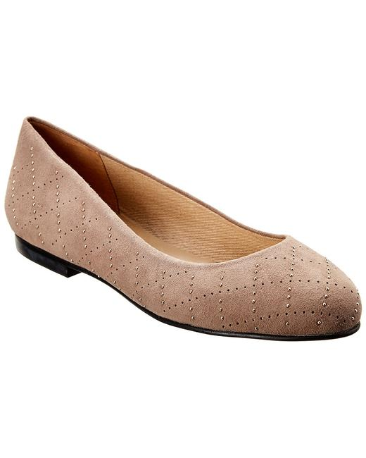 French Sole Suede Rosa Flats 13112339450007 Image 1