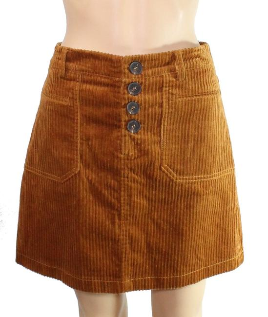 Item - L Women's Classic Light Brown Size Large Ribbed Mini Skirt