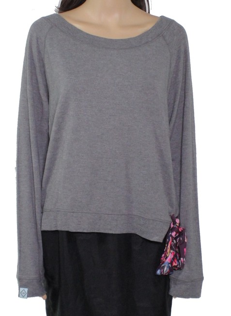 Item - L Women's Gray Size Large Floral Tie Side Sweater/Pullover