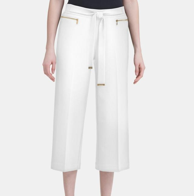 Item - L Women's Dress White Size Large Belted Stretch Pants
