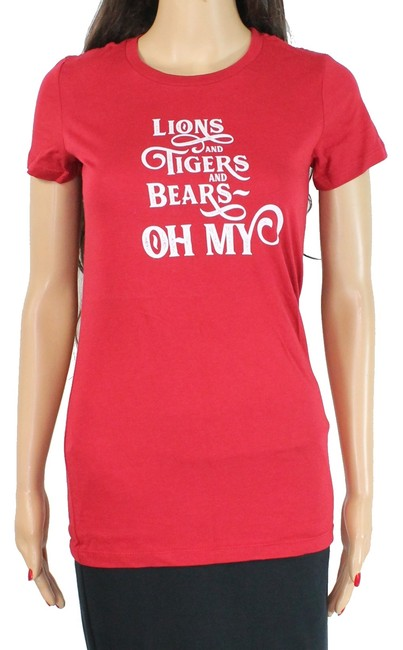 Item - Women's Top Red Size Small S Knit Lions Tigers and Bears Blouse