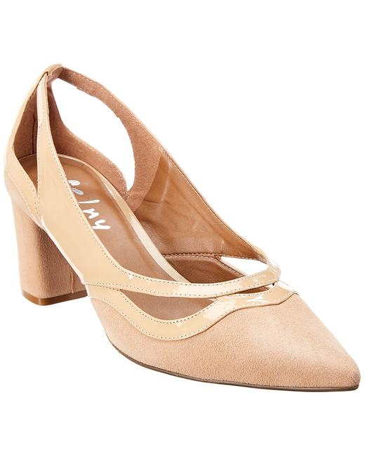 French Sole Suede & Patent Nellie Pumps 13112335370008 Image 1