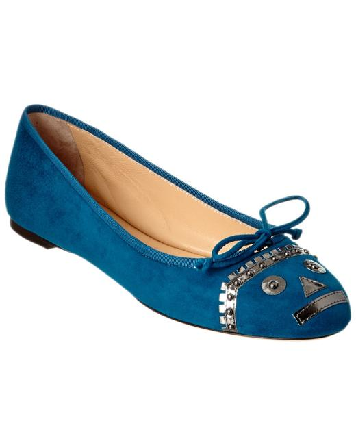Item - Suede Darcy Teal Flats