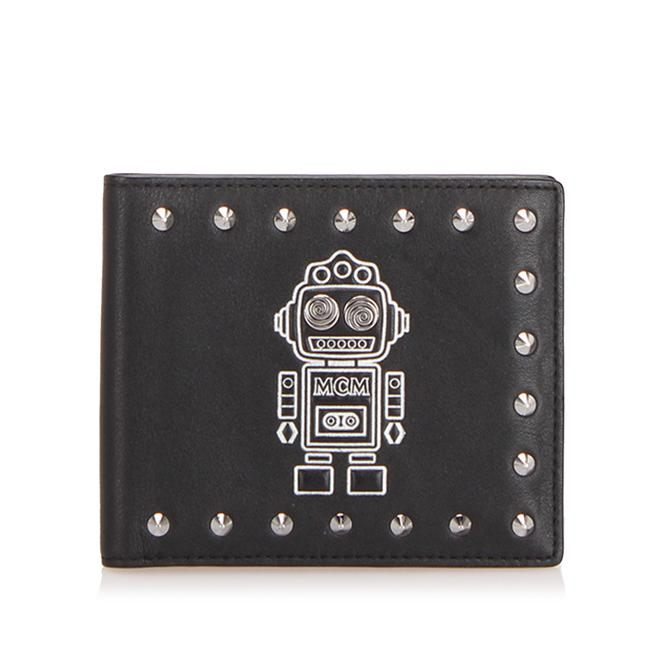 Item - Studded Robot Bifold Wallet