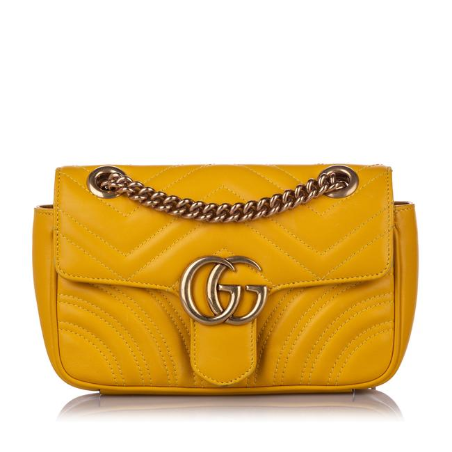 Gucci GG Marmont Mini Quilted-leather Cross-body Bag in